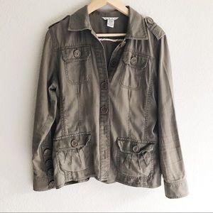 CAbi Brown/Olive Green Utility Jacket